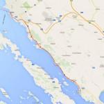 Pot ob obali jadranskega morja