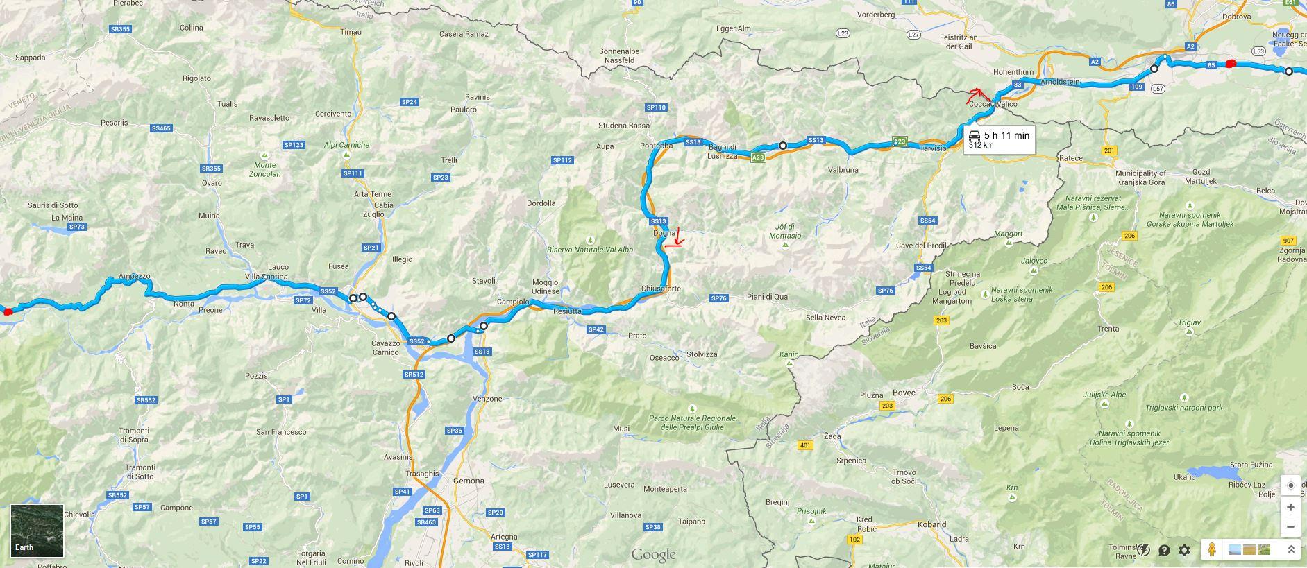 Pot Dolomiti, reka Drava
