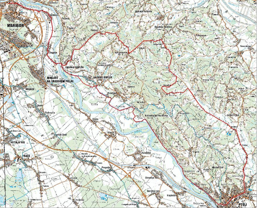 Pot kolesarskega izleta v slovenske gorice