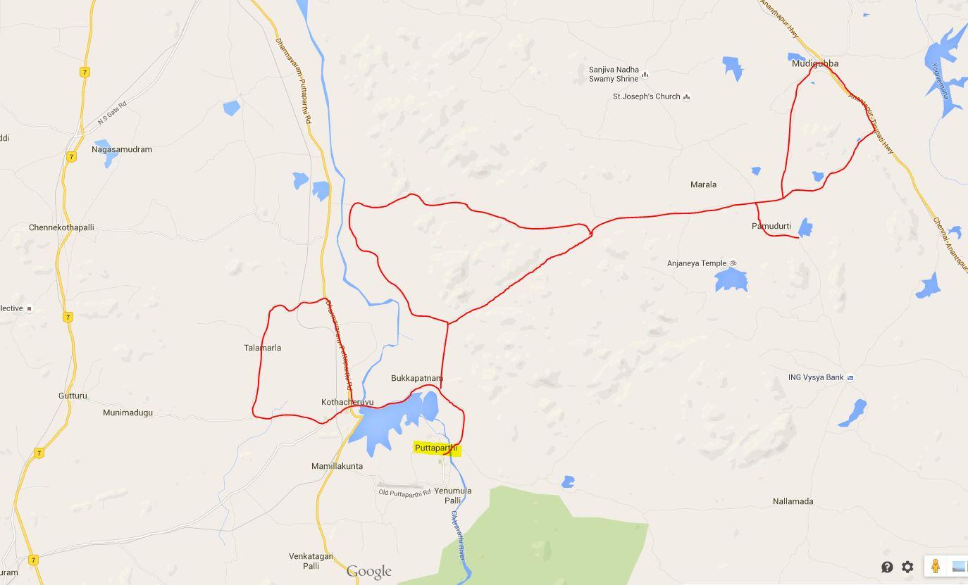 Zemljevid poti Indija