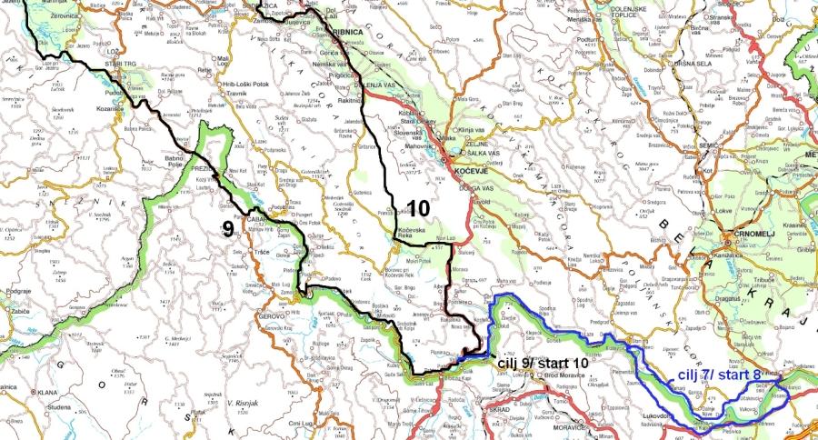 Zemljevid poti po Kolpi 2