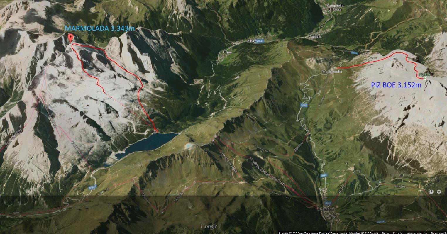 Zemljevid poti na Grossglockner