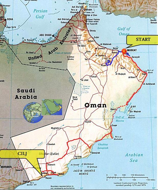poti po Omanu