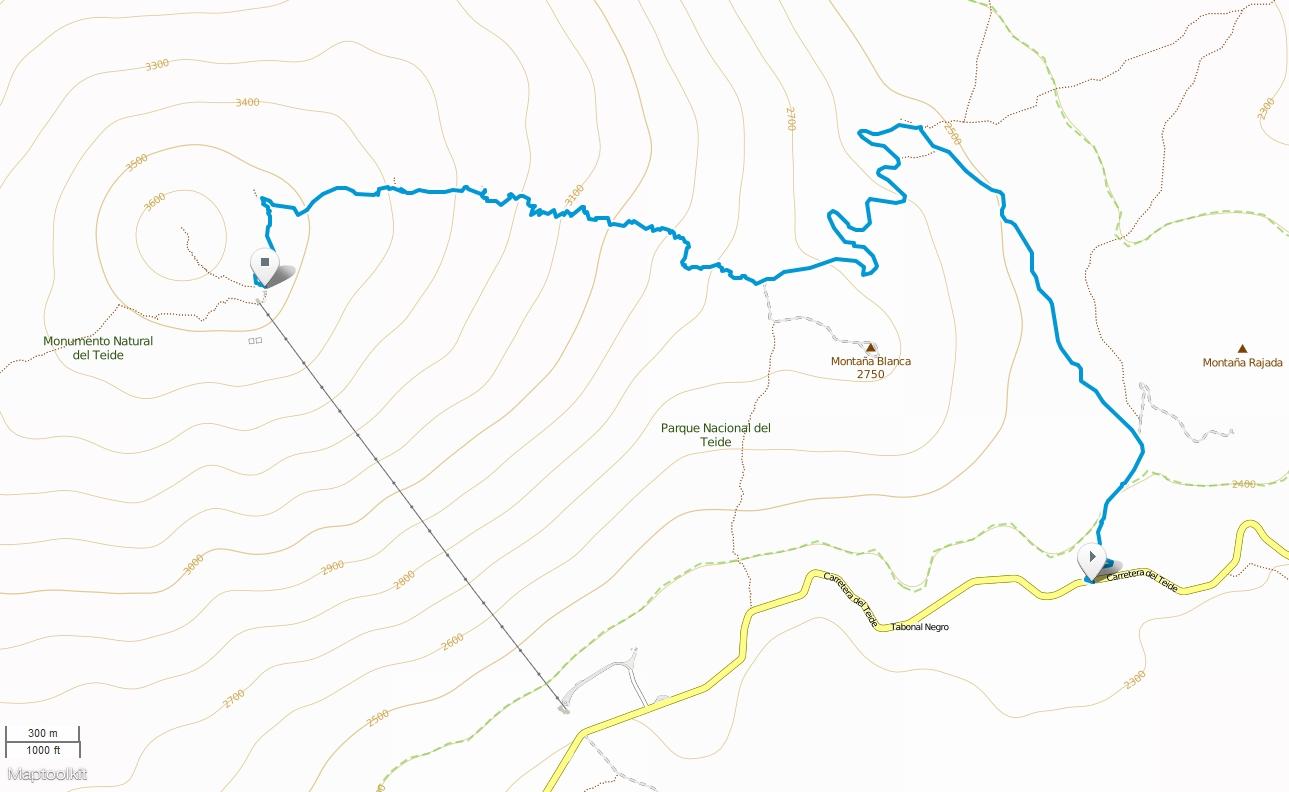 El Teide map
